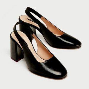 ZARA Lorene Slingback Block Heels | US 9 | NWT
